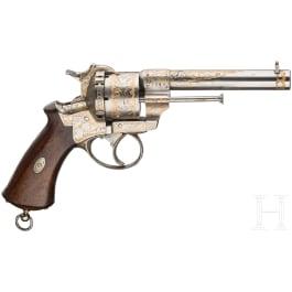 A pinfire revolver by Eugene Lefaucheux, Paris