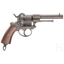 A pinfire revolver, Belgium, circa 1860