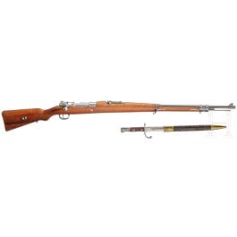 Gewehr Mod. 1908, mit Bajonett und Schussbild