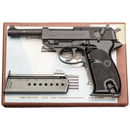 A Walther P 38, with BMI markings (deleted), in original cardboard box