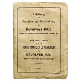 Originale Schweizer Anleitung zum Revolver M 1882, 1. Ausführung