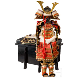A Japanese miniature suit of armour, Meiji-/Taisho-period