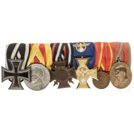 A six-place medal bar from a Baden policeman