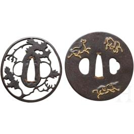 Two Japanese tsuba, Edo/Meiji period