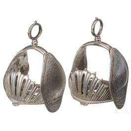A pair of iron stirrups, Germany or Italy, 17th century