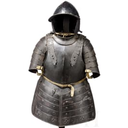 An Italian pikeman's suit of armour, 17th century