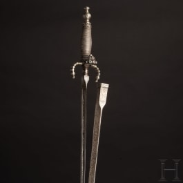 A Venetian silver-mounted dagger, dated 1767