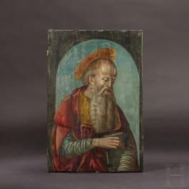 An Italian portrait of St Anthony of Padua, 1st half of the 15th century