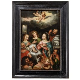 The Adoration of the Shepherds by a Dutch Master, 1st half of the 17th century