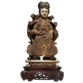 A Chinese ivory figurine of Guanyin, late Ming period