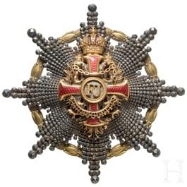Franz-Joseph-Orden – Bruststern zum Komtur mit Kriegsdekoration