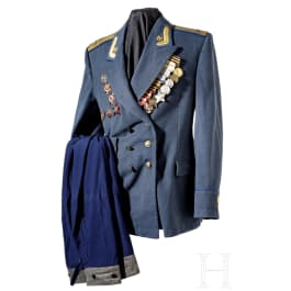 The parade jacket of a lieutenant colonel of the KGB with nine awards, circa 1950–70