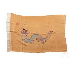 A Yellow Dragon Flag, ensign of the Qing dynasty, between 1888 and 1912