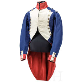 """A tunic for enlisted men of the infantry of the Old Guard (""""Grognards""""), 1st half of the 19th century"""