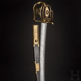 Offiziers-Kavalleriesäbel mit schottischem Korbgefäß, um 1810/20