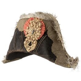 A bicorne for officers of the life guards of Ferdinand II of Naples and Sicily (1830-59)