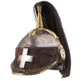 A helmet for officers of the Guardia Civica di Milano, mid-19th century