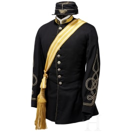 A uniform for an officer of the Chasseurs Etrangers of the pontifical troops in the regimental staff, circa 1865