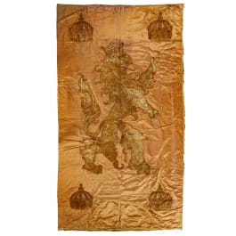 A large tapestry with the Palatinate rampant lion, 17th/18th century