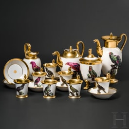 Maximilian I Joseph of Bavaria – an unparalleled coffee and tea service with parrot motifs, Porcelain Manufacture Nymphenburg, circa 1810/20