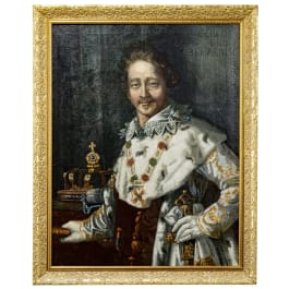 King Ludwig I of Bavaria – a painting in a frame