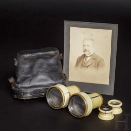 King Ludwig II of Bavaria – a pair of ivory opera glasses as a gift to his aide-de-camp Karl Theodor von Sauer, Christmas 1864