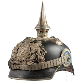 A helmet M 1886 for officers of the Infantry Leib Regiment or the Pioneers