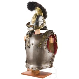 A helmet M 1842/48 and a cuirass for cuirassier troopers