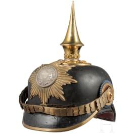Helm für Offiziere im Großherzoglich Mecklenburgischen Grenadier-Regiment Nr. 89, II. Bataillon, um 1900