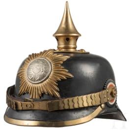 Helm für einen Unteroffizier im Grenadier-Regiment Nr. 89, II. Bataillon (Mecklenburg-Strelitz), um 1910
