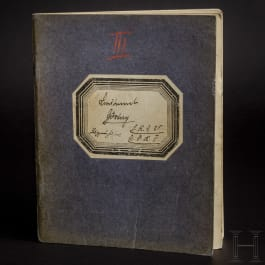 Lieutenant Hermann Göring – his flight book III as pilot on the FFA 25 from 20 February 1916 to 9 August 1916