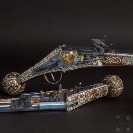 Ein Paar Radschlosspistolen, Repliken im Stil des 16. Jhdts.