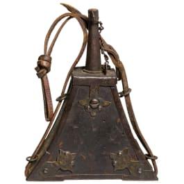 Lederbezogene Musketier-Pulverflasche, deutsch, um 1600