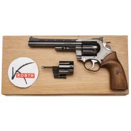 Revolver Korth Serie 24, mit Wechseltrommel, im Kasten