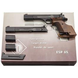 Sportpistole ERMA Mod. ESP 85 mit Wechselsystem, im Karton