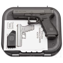 Glock Mod. 17, im Koffer, mit Anschlagschaft