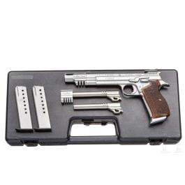 SIG P 210-5 Target mit zwei Wechselläufen, Oschatz-Tuning, im Koffer