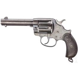 Colt Modell 1878 Double Action Frontier Six Shooter, 1898, mit Holster und Sporen
