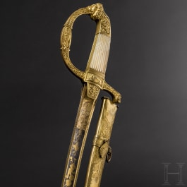 A significant deluxe sabre for high officers with Damascus blade, 1st quarter of the 19th century