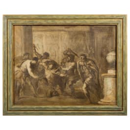 Gaspare Diziani (1689 - 1767) - The assassination of Caesar