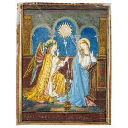 A miniature painting on parchment of the Conceptio Christi, 19th century