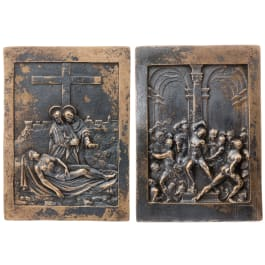 A pair of Italian bronze plaques, 17th century