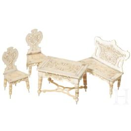 A set of German miniature furniture, circa 1900