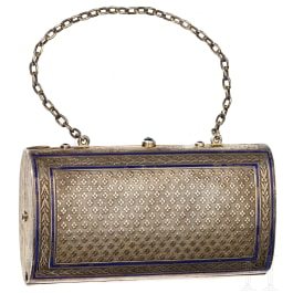A German silver makeup pouch, late 19th century