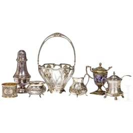 Six German silver objects for a tea or coffee table, circa 1900