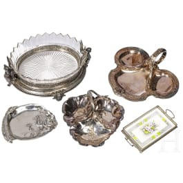 Five German and British pastry dishes, circa/after 1900