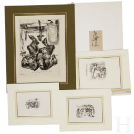 A small collection of 16 German graphics by Lovis Corinth (1858 - 1925) and Max Slevogt (1868 - 1932)
