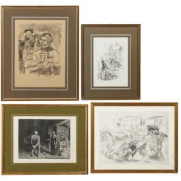 Four German prints by Barlach, Corinith und Slevogt, 20th century