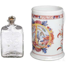 An Austrian spirit bottle, 19th century