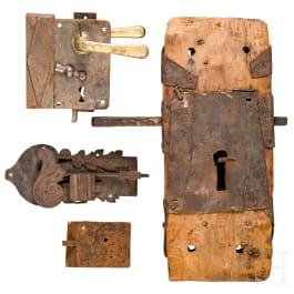 Four German locks, 17th/18th century